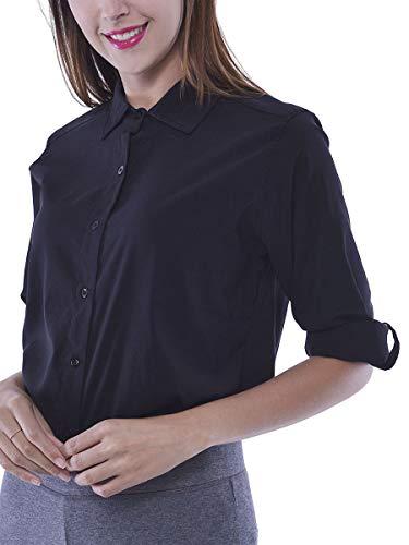WuhouPro Womens Super Stretch Blouse Shirts AZ 5000 Black XL