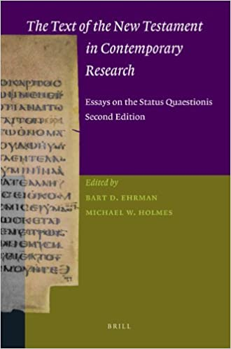 Book The Text of the New Testament in Contemporary Research: Essays on the Status Quaestionis (New Testament Tools, Studies, and Documents)