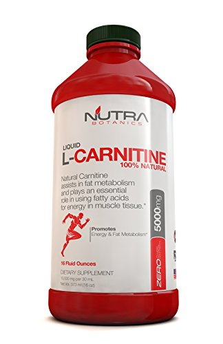 Nutra Botanics High Strength Liquid L carnitine 5000 Mg, 16 Oz (373 Ml)