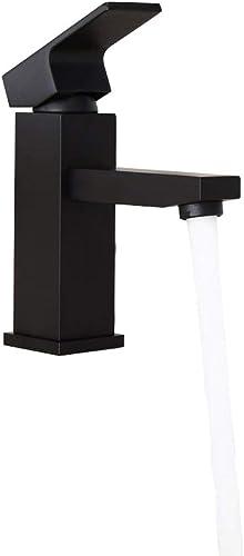 KunMai Single Hole Single Handle Brass Bathroom Sink Faucet,Matte Black