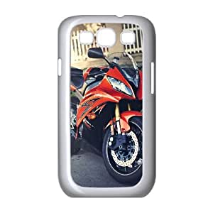 Motorcycle Samsung Galaxy S3 9300 Cell Phone Case White V09734427