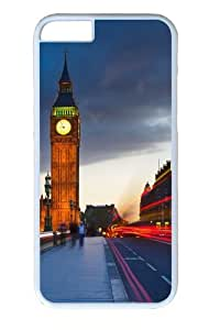 Big Ben Uk London City Street PC Case Cover for iPhone 6 White
