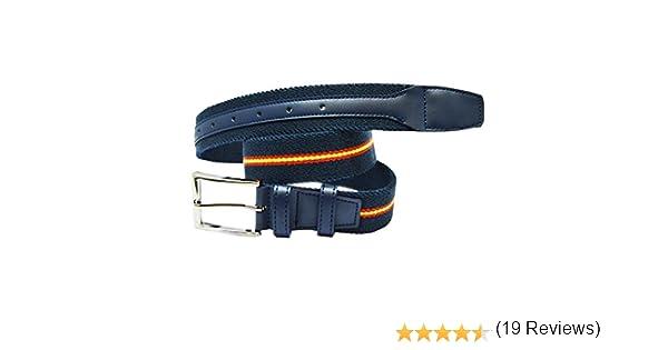 ALBERO Cinturón COPS azul, piel, elástico, Blue Line: Amazon.es: Ropa y accesorios