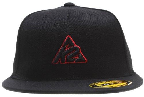 K2 Branded Logo Flex Fit Cap Black Mens Sz S