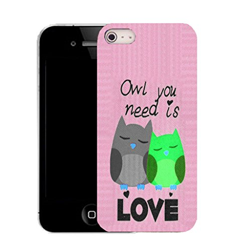 Mobile Case Mate IPhone 4s clip on Silicone Coque couverture case cover Pare-chocs + STYLET - pink owl you need pattern (SILICON)