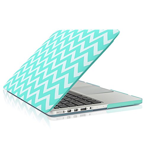 TopCase Chevron Series Ultra Slim Light Weight Rubberized Hard Case Cover for Apple MacBook Pro 13.3
