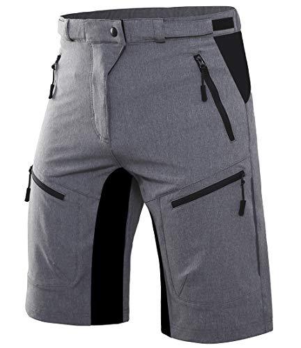 Wespornow Men's-Mountain-Bike-Shorts-MTB-Cycling-Shorts with Zipper
