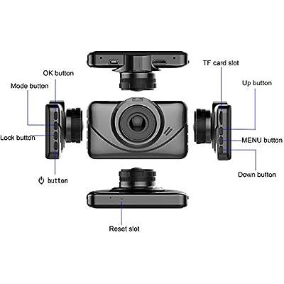 Dash Cam 1080P Car DVR Dashboard Camera Full HD with 3