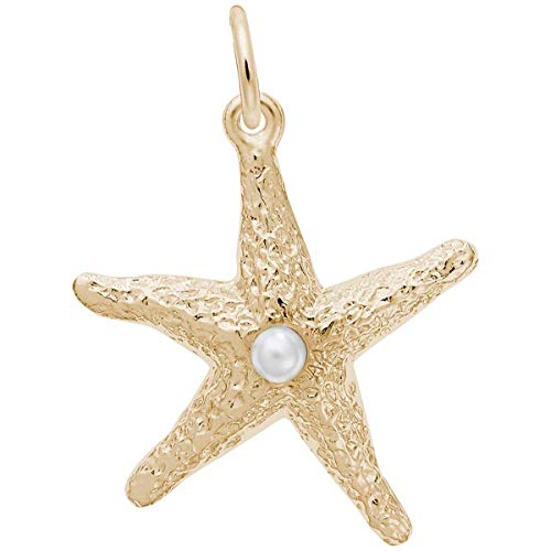 Rembrandt Charms Starfish Charm, 10K Yellow Gold