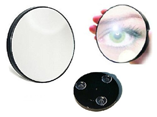 Magnifying Mirror Handheld 15x Wall Mount Suction Macro