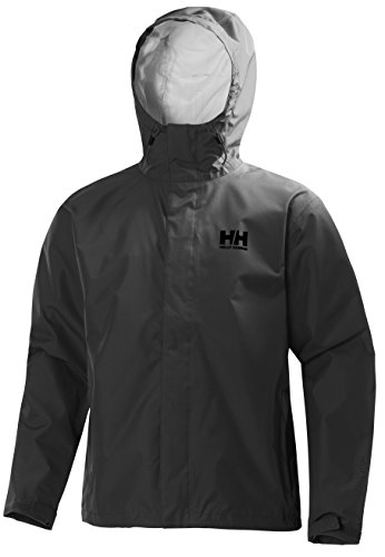 Helly Hansen Men's Seven J Jacket, 980 Ebony, Medium (Best Waterproof Jacket Brands)