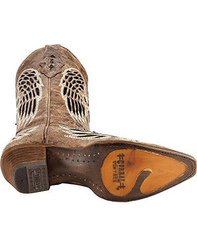 Corral Womens Distressed Paillettes Croce E Ala Intarsio Cowgirl Boot Snip Toe - A1241 Marrone