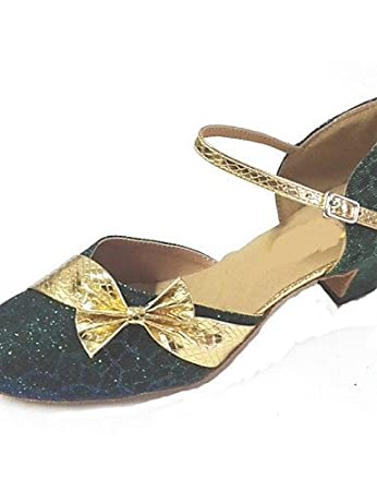ShangYi Non Customizable Women's Dance Shoes Modern Sparkling Glitter/Paillette Cuban Heel More Colors , silver-us6 / eu36 / uk4 / cn36 , silver-us6 / eu36 / uk4 / cn36