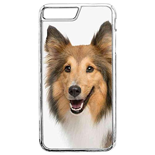 (Clear Case for iPhone 8 Plus, iPhone 8 Plus Case,Sheltie Paw Prints iPhone 8 Plus Case Shetland Sheepdog TPU Bumper Protective Back Case for iPhone 7 Plus/iPhone 8 Plus)