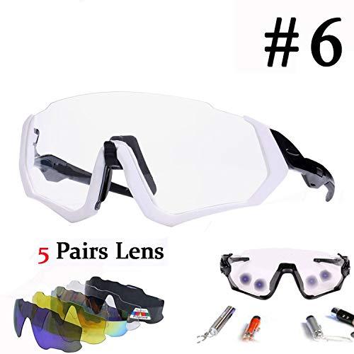 Polarized & Photochromic Cycling Eyewear Sport Bicycle Glasses Men Women Riding Fishing Bike Goggles Cycling Sunglasses,Photochromic ()