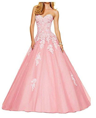 Lace Dresses Dusty Sweetheart ANGELA Quinceanera Long Prom Rose Beaded Women's E0vv8wqO