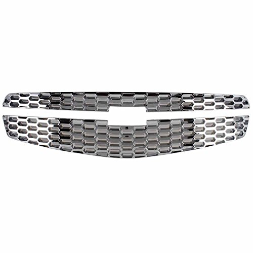Bully GI-107 Triple Chrome Plated ABS 2-Piece Grille Overlay ()