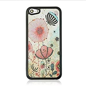 SOL Dandelion Leather Vein Pattern Hard Case for iPhone 5C