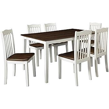 Dorel Living Shiloh 5-Piece Rustic Dining Set, Creamy White / Rustic  Mahogany