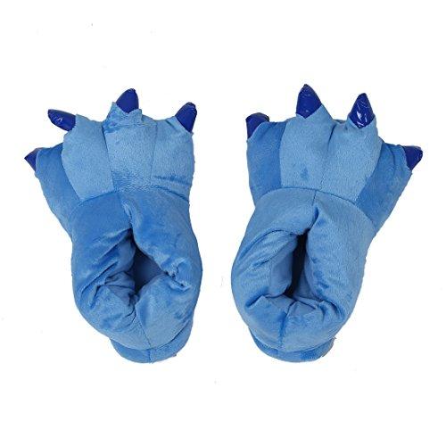 Halloween motif TOOGOO en de l'hiver chauds L la de de pour coton Patte peluche chaleur peluche en en Taille Bleu Chaussons chauds R de Pantoufles Rose HUqwrTH