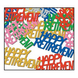 Happy Retirement Fanci-Fetti (multi-color) Party Accessory  (1 count) (.5 Oz/Pkg) -