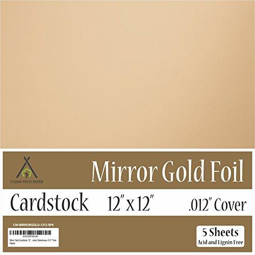 Mirror Metallic Gold Cardstock - 12 x 12 inch - .012