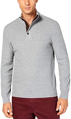 Tasso Elba 14 Zip Supima Cotton Textured Knit Pullover Lightweight Sweater / Tasso Elba 14 Zip Supima Cotton Textured Knit Pullover Lightweight Sweater