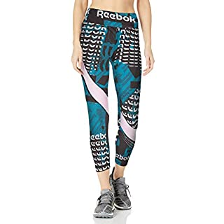 Reebok Workout Ready Meet You There 7/8 Tight, Heritage Teal, XX-Large