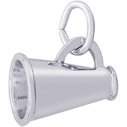 Rembrandt Charms Sterling Silver Megaphone Charm (13 x 9 ()
