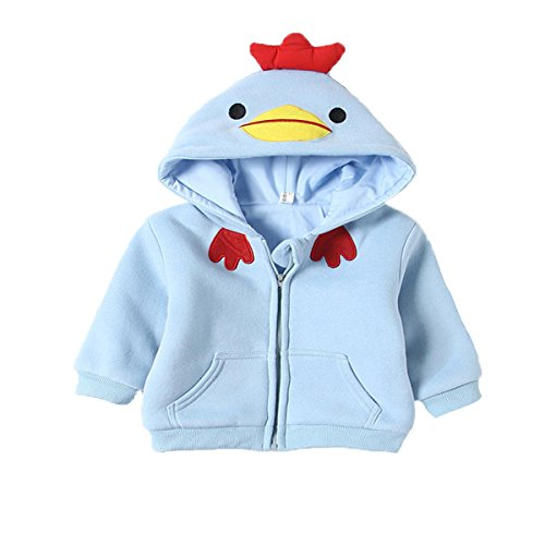 verygoo Baby Boy Girl Chick Zip-up Hoodies Sweatshirt Winter Clothes (12-18M, (Chick Toddler Costume)