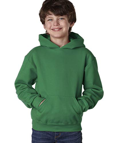 Jerzees Nublend Youth Pullover Hooded Sweatshirt (Clover) (XL)