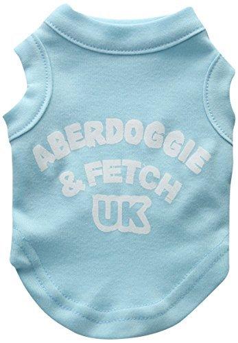 Mirage Pet Products 8-Inch Aberdoggie UK Screenprint Shirts, X-Small, Aqua by Mirage Pet Products