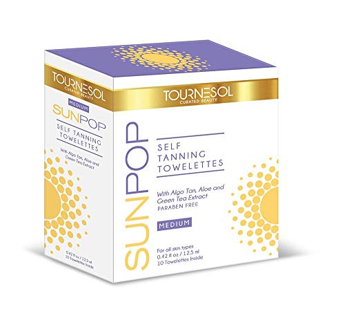 TourneSol SunPop Self Tanning Towelettes Medium