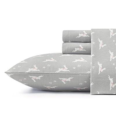Laura Ashley Bunny Hop Sheet Set, Twin, Grey -  - sheet-sets, bedroom-sheets-comforters, bedroom - 41A9thpJ4jL. SS400  -