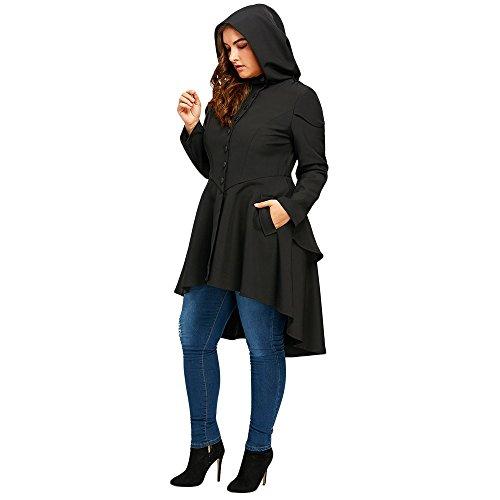 SKM Women\'s Plus Size Coats Dress Long Sleeve Layered Lace Up Back ...