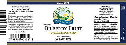Bilberry Fruit Concentrate - Night Vision Support 60 Tabs