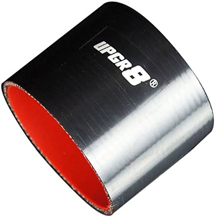 38MM , Black 1.5 Upgr8 Universal 4-Ply High Performance Straight Coupler Silicone Hose 76mm Length