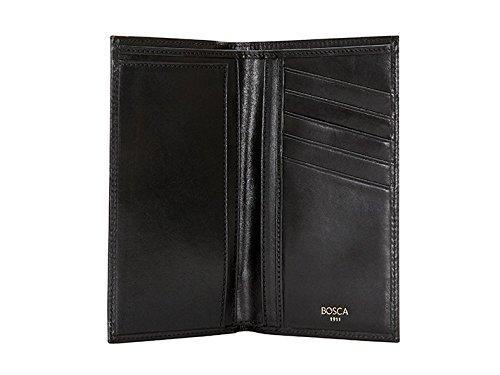 Bosca Old Leather Coat Pocket Wallet (One Size, Black)