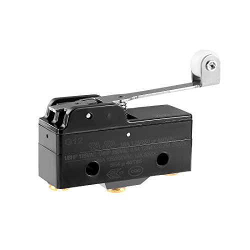 Uxcell a13030900ux0392 Panel Mount Long Hinge Roller Lever, AC DC Basic Micro Switch (Micro E/z Hinge)
