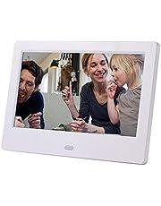 JIUY 7 pollici LCD widescreen HD LED Photo Album elettronico Digital Photo Frame parete pubblicitaria di articoli da regalo (bianche e 7 pollici)