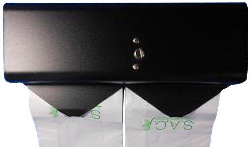 S.A.C SD3018R 22 Gauge Steel Sanitary Napkin Disposal Bag Dispenser, 10'' Length x 5-1/8'' Width x 3-1/2'' Height, Black by S.A.C (Image #1)