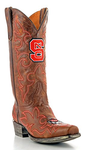 NCAA North Carolina State Wolfpack Men's Gameday Boots, Brass, 11.5 D (M) US