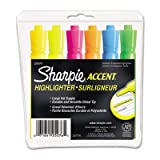 Accent Tank Style Highlighter, Chisel Tip, Assorted Colors, 6/Set, Total 72 ST, Sold as 1 Carton