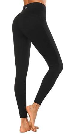 300d3c0bcaaaba X HERR Women Gym Leggings High Waist Yoga Sports Pants Compression Workout  Running Tights (Black3