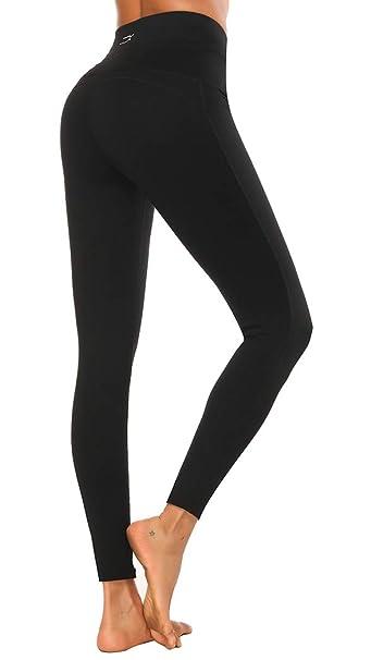 X-HERR Mujer Pantalones Leggings Deportivos - Leggins Yoga Elásticos Running Cintura Alta Elásticos