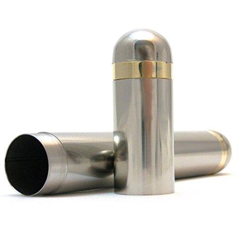 - Stainless Steel Cigar Tube For One Cigar