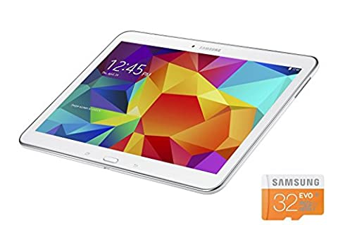 Samsung Galaxy Tab 4 10.1-Inch, International version, 16GB White + Micro SD 32GB (Samsung Android Docking Station)