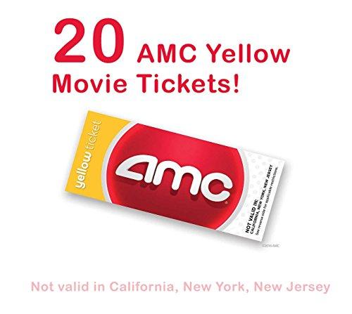 - 20 AMC Theatre Yellow Movie Tickets (SAVE $50!)