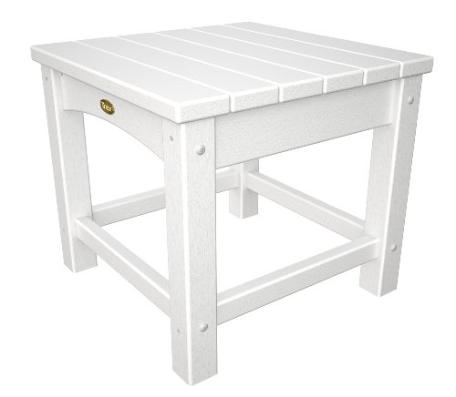 (Trex Outdoor Furniture Rockport Club 18-Inch Side Table, Classic White)