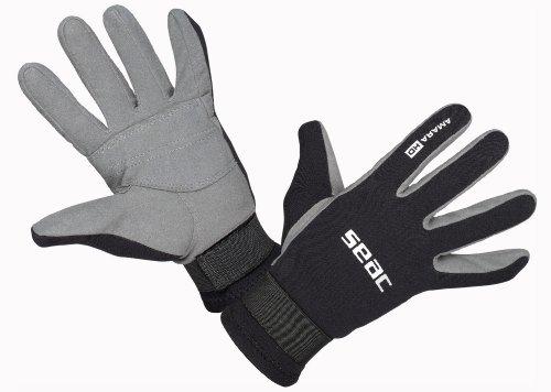SEAC Amara 1.5mm Scuba Diving Gloves, Black/Grey, Large